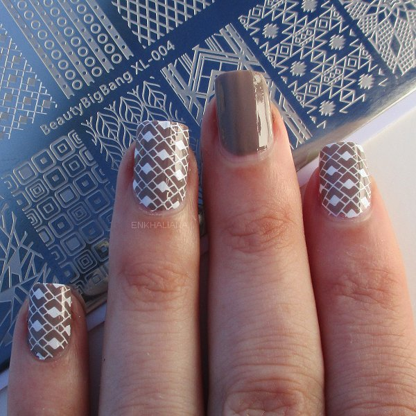 Geometry Series Rectangle Nail Stamping Plate Nail Art Tool BBBXL-004