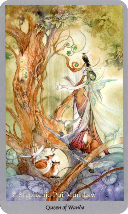 Shadowscapes Tarot - Queen of Wands Stephanie Pui-Mun law