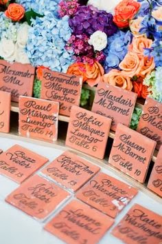 tile engraved place cards