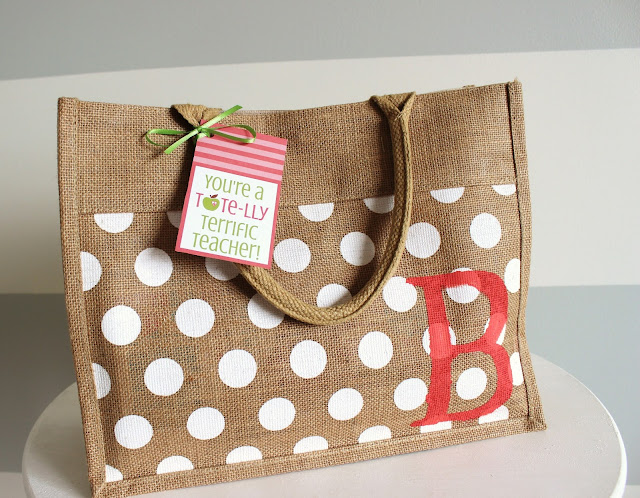 Teacher Appreciation Printable Tags… Tote-lly Terrific Gift
