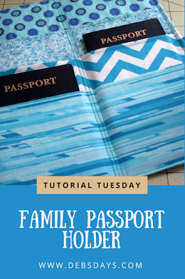 Homemade Fabric Family Passport Wallet and Organizer Holder Sewing Project
