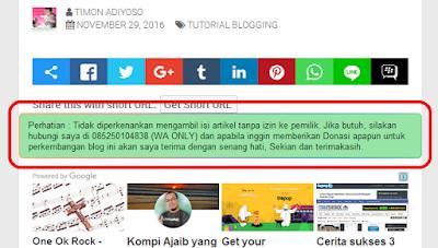 Cara membuat kotak pesan di bawah Postingan Blog dengan warna menarik