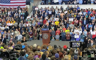 """Photo Credit - Independent Underground News & Talk  Senator Bernie Sanders Speaking at Eastern Michigan University February 15, 2016  at """"A Future to Believe"""" rally event"""
