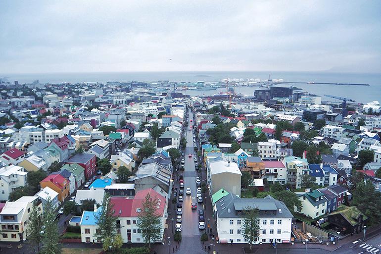 Panorama sur la ville de Reykjavik en Islande