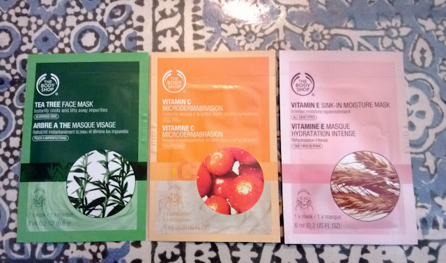 The Body Shop Tea Tree Mask, Vitamin E Mask and Vitamin C Microdermabrasion Review