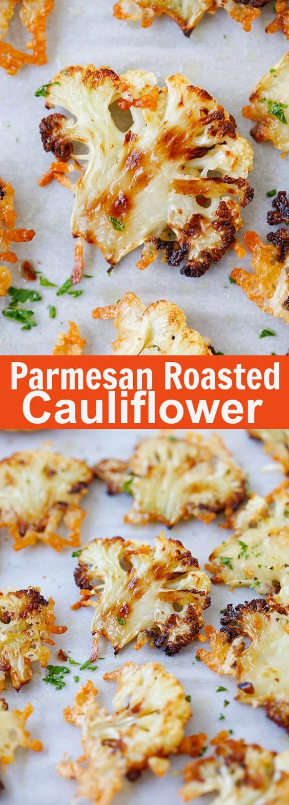 Parmesan Roasted Cauliflower #parmesan #roasted #cauliflower #roastedcauliflower #veganrecipes #vegetarianrecipes #vegetablerecipes