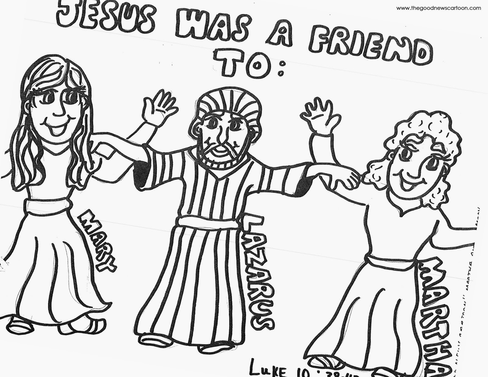 Mary Martha Lazarus Coloring Pages Coloring Pages