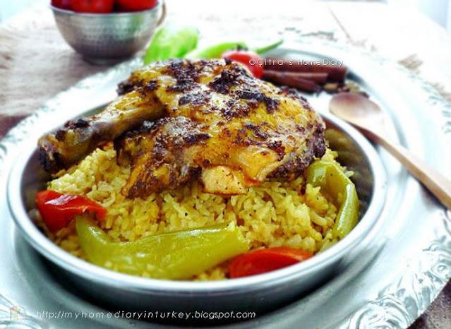 Yemeni Chicken Mandi recipe.| Çitra's Home Diary. #middleeast #chickenmandi #lunch #chicken #resepayam #resepnasimandi #hawaij #spicemix