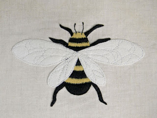 field guide illustration, sewing, applique, embroidery, save the bees, DIY home decor,