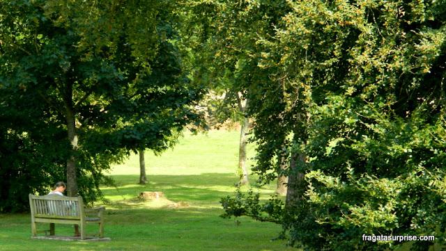 Parque público em Chawton, vila onde viveu Jane Austen