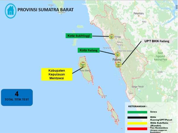 Lokasi Tes Cat BKN Propinsi Sumatera Barat