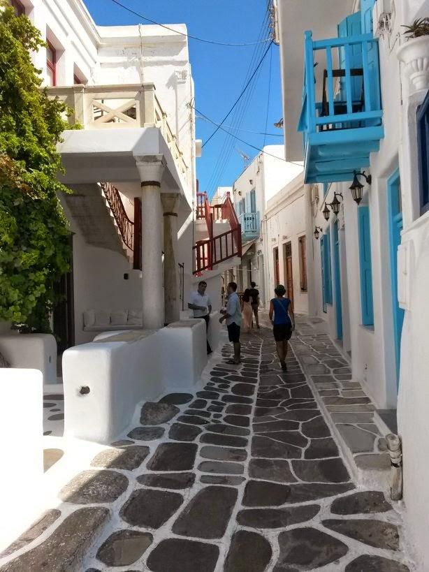 Mykonos town in Greek Islands