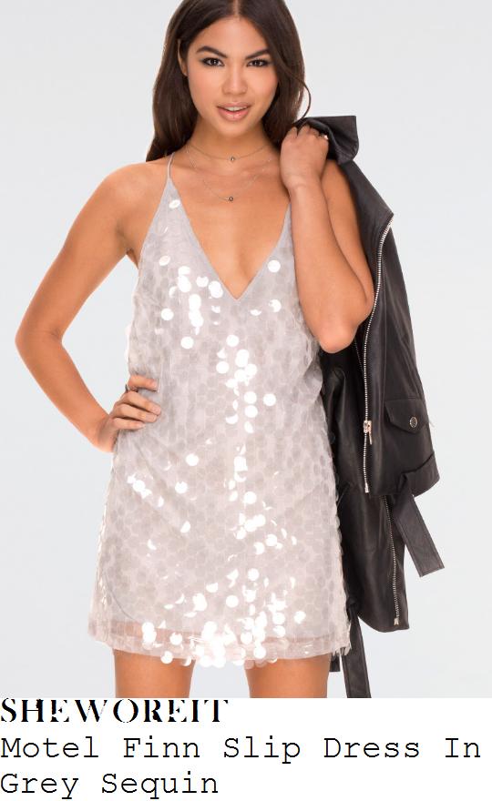 ferne-mccann-motel-finn-pale-grey-oversized-sequin-embellished-sleeveless-cami-strap-plunge-front-open-back-slip-mini-dress