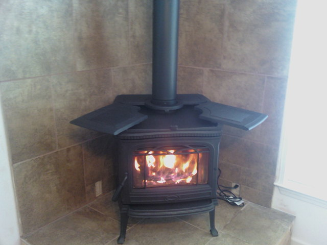Stallings Sheet Metal Stove Fireplace Installation Pics