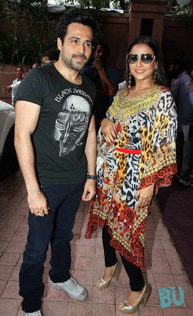 Vidya Balan and Emraan Hasmi at Ghanchakkar Promotion