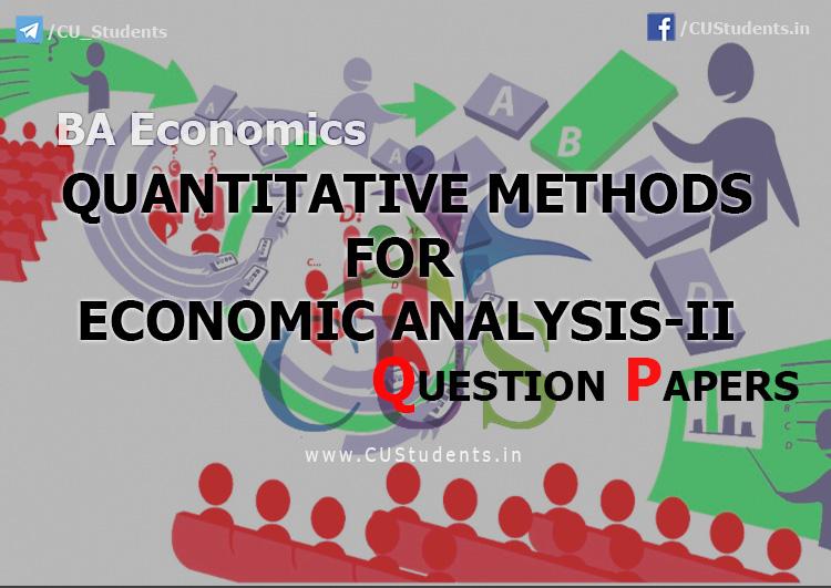 BA Economics Quantitative Methods For Economic Analysis-II Previous Question Papers