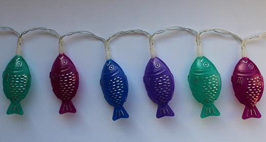 DIY-Upcycling-Basteltipp für eine Lichterkette aus Sojafischen von Ars Vera