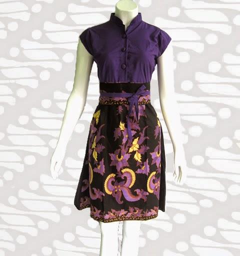 Desain Baju Batik Unik: Model Desain Dress Pendek Batik Unik Terbaru