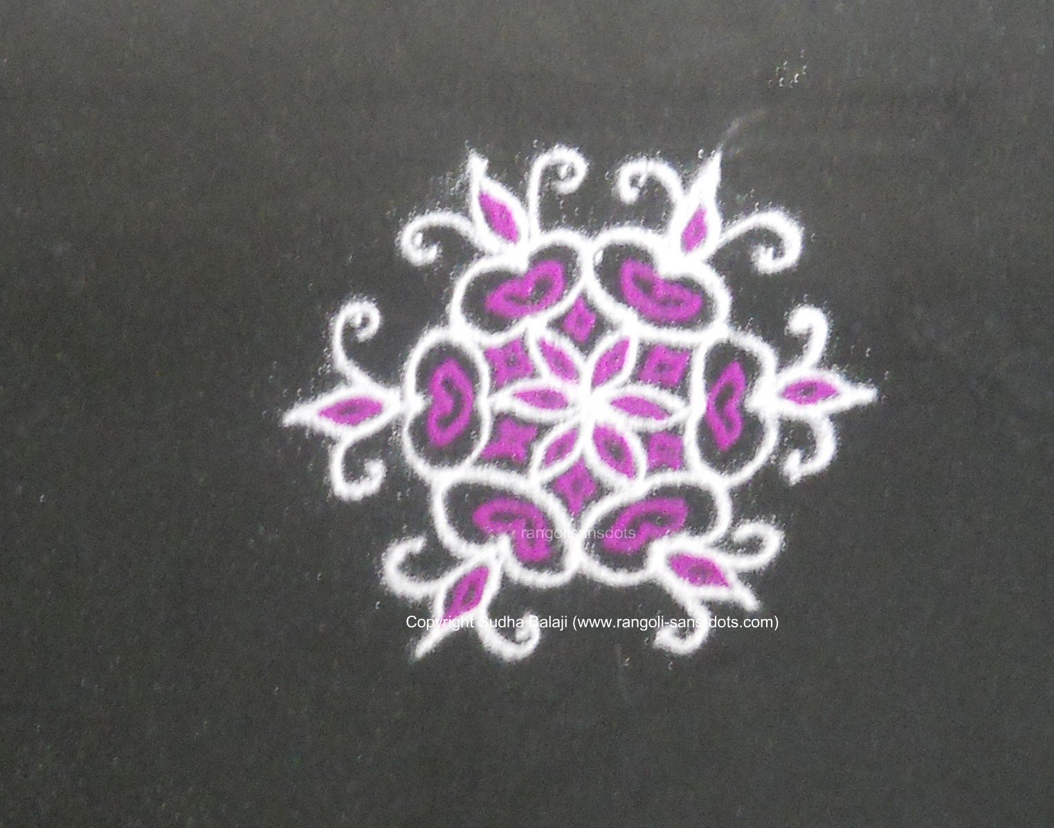 Simple Rangoli Designs For Beginners Step By Step