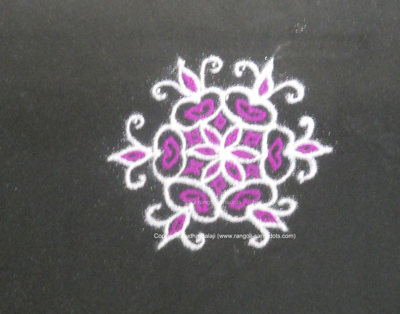 Simple Kolam With Dots Kolam By Sudha Balaji