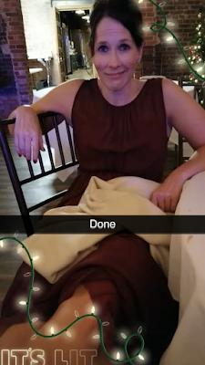 Tired bridesmaid