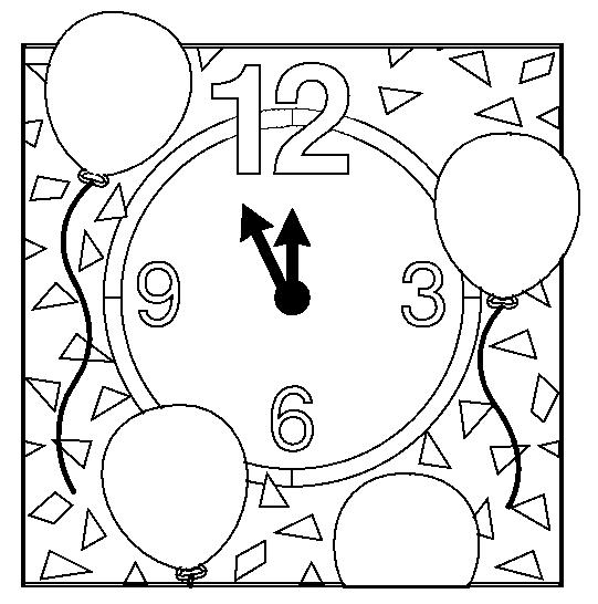 Dibujos de relojes infantiles para colorear - Imagui