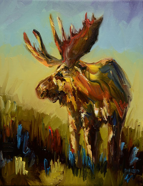 Abstract Moose Oil Paintings
