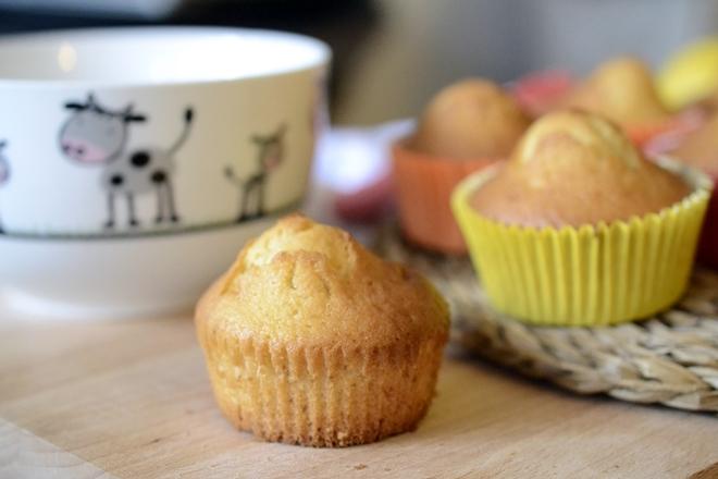 Magdalenas de limón, jengibre y miel