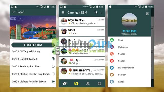 Aplikasi BBM Mod Simple No Boring Themme Versi 3.0.0.18 Apk Android Terbaru