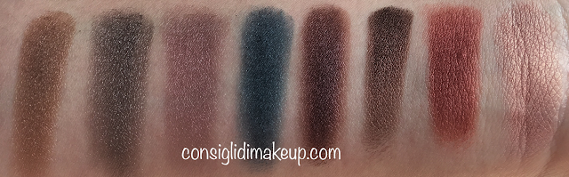 ombretti magheia cosmetics swatches