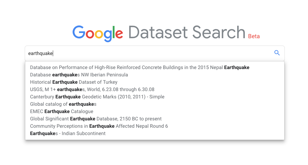 Free Technology for Teachers: Google Dataset Search - Locate