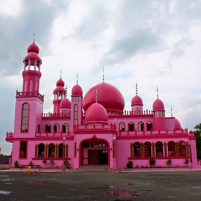 Beautiful Masjid In The Philippines Pink Mosque In Cotabato City Image