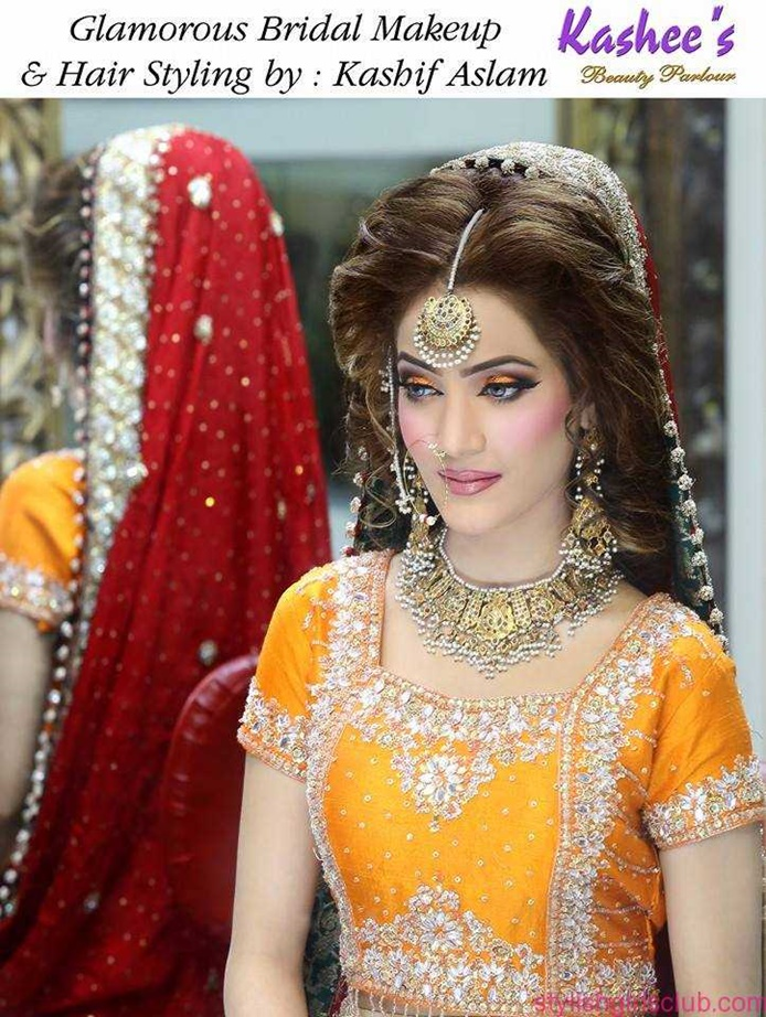 Glamourous Bridal Makeup And Hair Styles By Kashif Aslam
