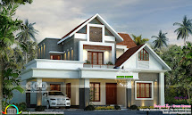 Beautiful Modern Style Mix Roof Home 2800 Sq-ft - Kerala