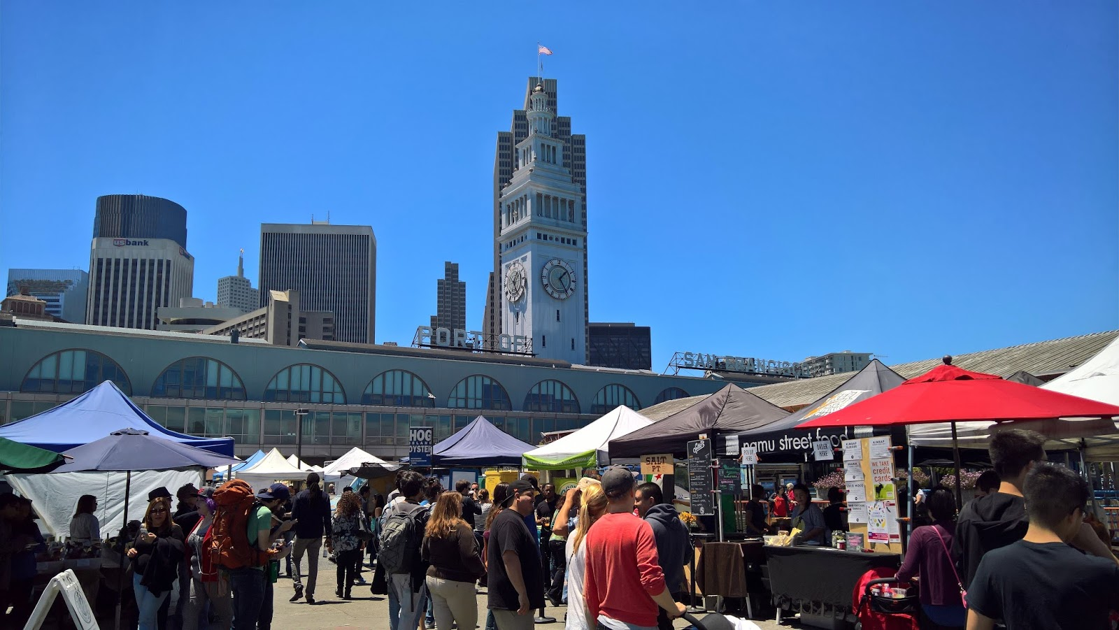 Ferry Building farmer's market San Francisco Kalifornia matkailu matkakohde matkajuttu mallaspulla