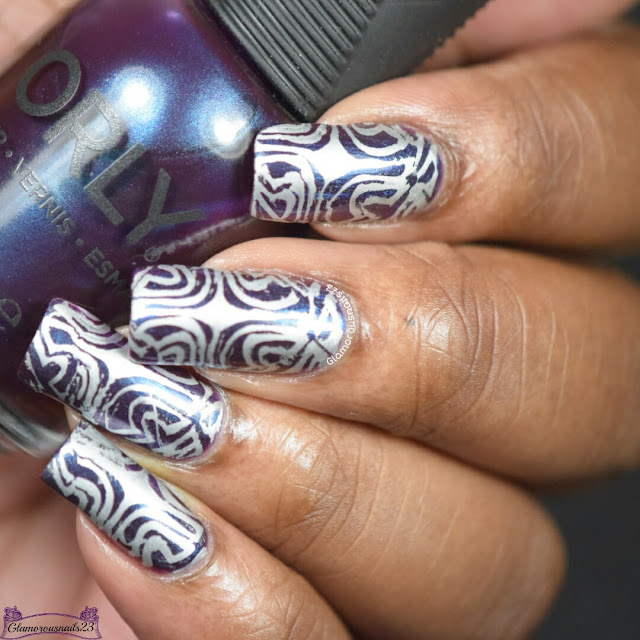 Purple & Silver Stamping