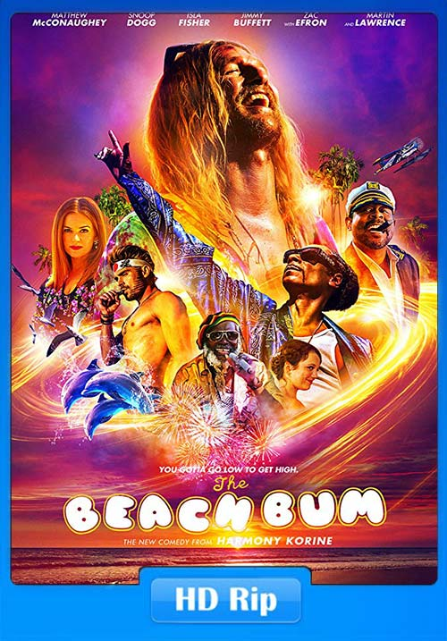 The Beach Bum 2019 720p WEB-DL x264 | 480p 300MB | 100MB HEVC Poster