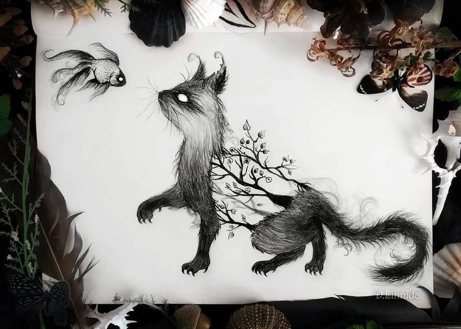 06-Little-fox-and-goldfish-Lihnida-Dimeska-www-designstack-co