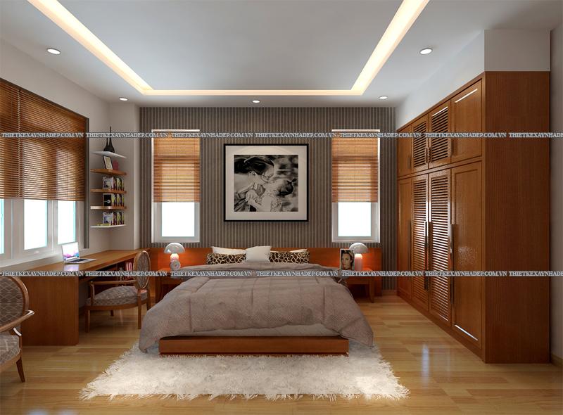 Mẫu thiết kế nội thất phòng ngủ đẹp anh Đăng - chị Thu Ngân Q.2 Phong-ngu-master-1