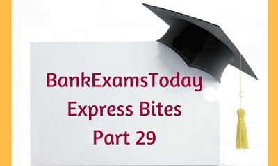 BankExamsToday Express Bites: Part 29