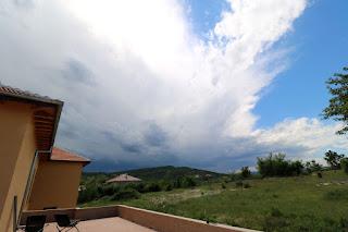 A huge storm rolls in