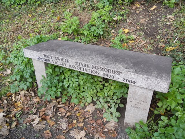 Walk the River Dodder in Dublin - memorial bench