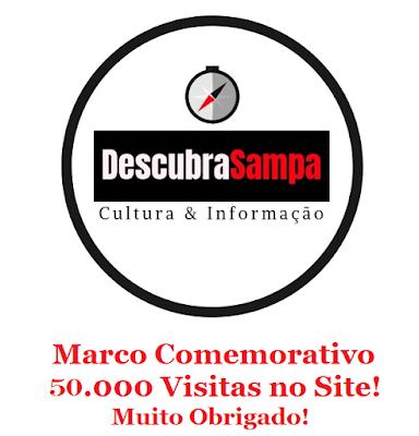 Marco comemorativo - 50 mil visitas no Descubra Sampa