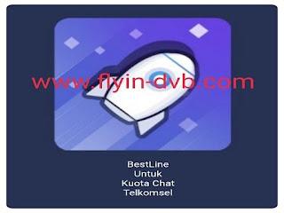 Trik simple cara menggunakan kuota chat telkomsel dengan bestline vpn