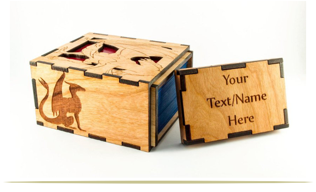 Magic the Gathering Personalized Handcrafted Wooden Dragon Deck Box |  9CoolThings.com