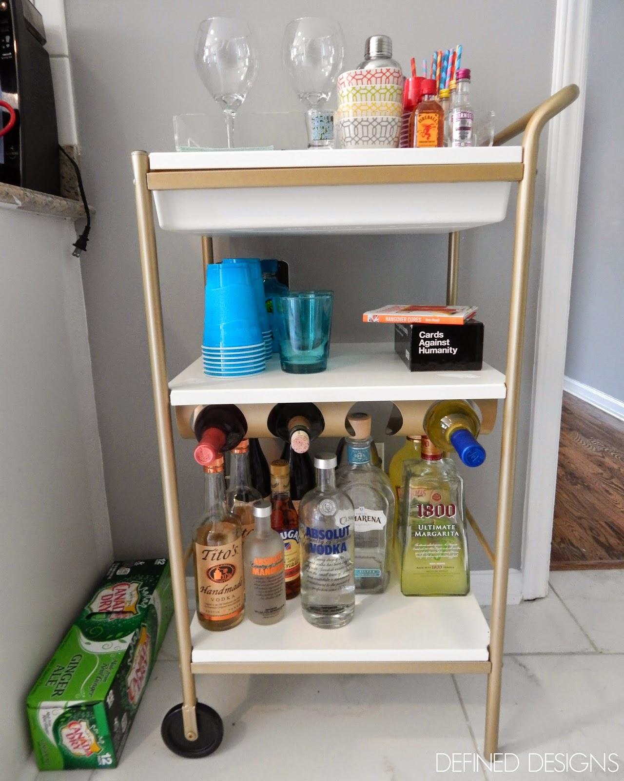 Ikea Kitchen Cart Hack: Defined Designs: Party On Wheels {IKEA Hack}