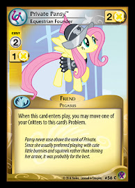 My Little Pony Private Pansy, Equestrian Founder Marks in Time CCG Card