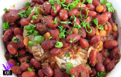 Creole red beans cooked in an electric pressure cooker, full of flavor