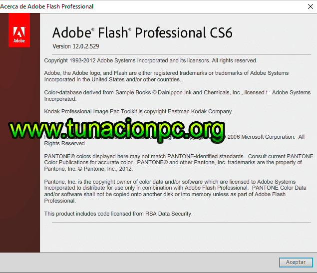 Adobe Flash Professional CS6 con Activador