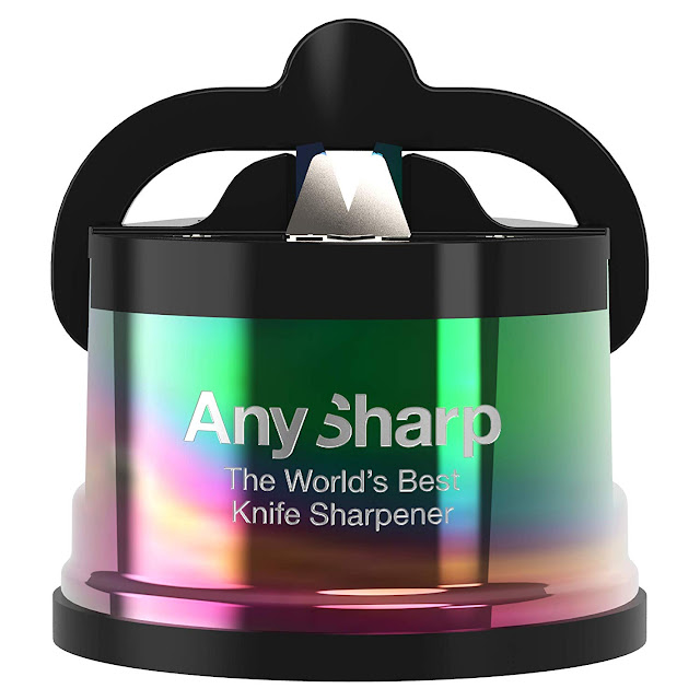 AnySharp Pro knife sharpener in oil slick colour way